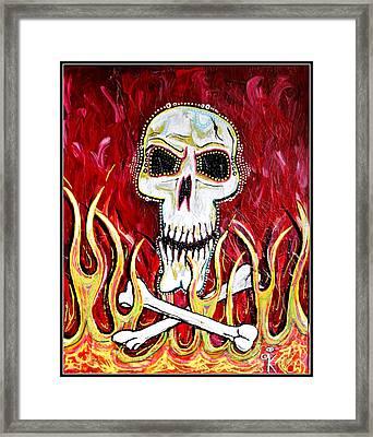 The Happy Skull Framed Print by Kip Krause