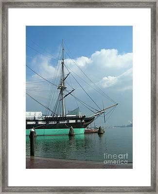 The Harbor Framed Print by Arlene Carmel