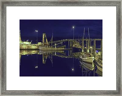 The Harbor At 1030pm Framed Print