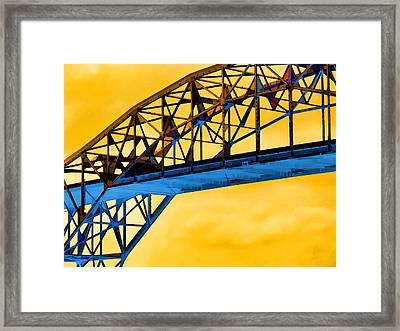 The Harbor Bridge Corpus Christi Texas Mostly Sunny Framed Print