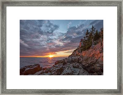 The Harbor Dusk II Framed Print by Jon Glaser