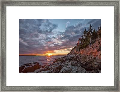 The Harbor Dusk II Framed Print