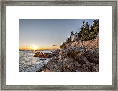 The Harbor Sunset Framed Print by Jon Glaser