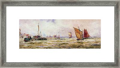 The Harbor Framed Print by Thomas Hardy