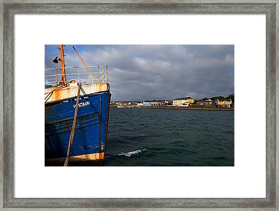 The Harbour And Kilronan Village Framed Print by Panoramic Images