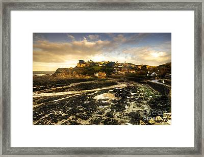 The Harbour At Lee  Framed Print by Rob Hawkins