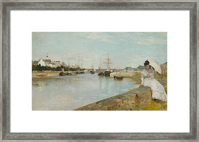 The Harbour At Lorient Framed Print by Berthe Morisot