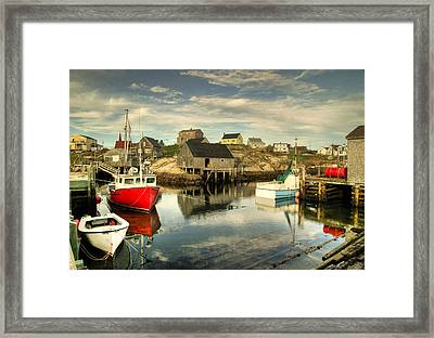 The Harbour At Peggys Cove Framed Print