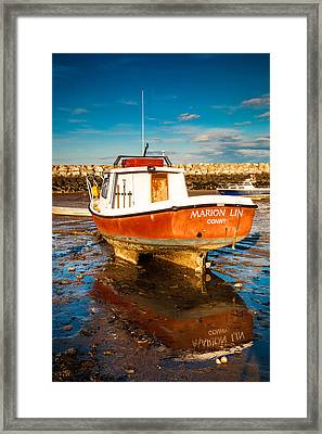 The Harbour Framed Print by Christine Smart