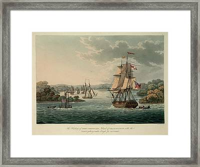 The Harbour Of Port Cornwallis Framed Print by British Library