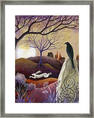 The Hare And Crow Framed Print