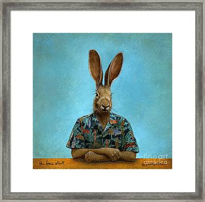 The Hare Shirt... Framed Print by Will Bullas