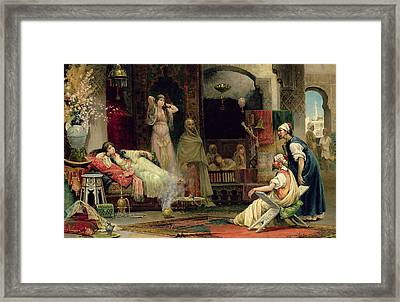 The Harem Framed Print by Juan Gimenez y Martin