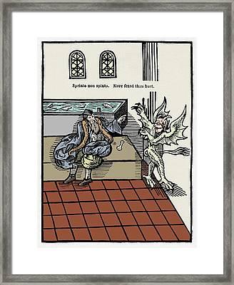 The Harington Water Closet Framed Print by Sheila Terry