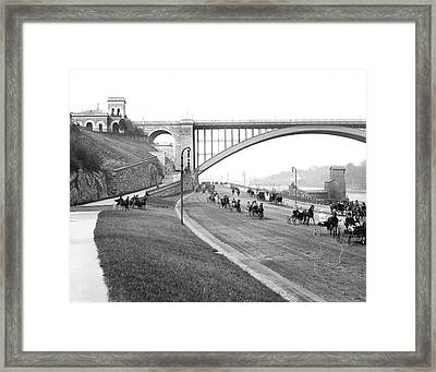The Harlem River Speedway Framed Print by Detroit Publishing Company