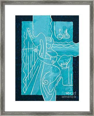 The Harp Player Framed Print by Elisabeta Hermann
