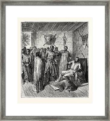 The Harper In The Barons Hall 12th Century Framed Print