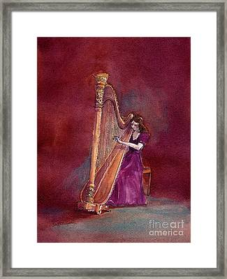 The Harpist Framed Print