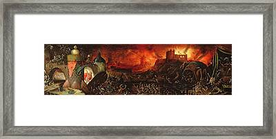 The Harrowing Of Hell Oil On Panel Framed Print