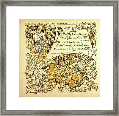 The Hart And The Vine Framed Print by English School