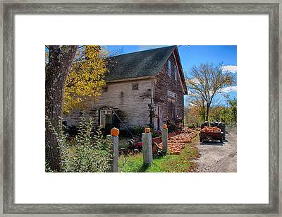 The Harvest Is In Framed Print by Jeff Folger