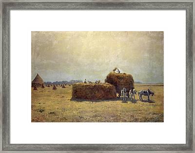 The Harvest Oil On Canvas Framed Print