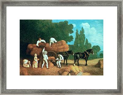 The Harvest Wagon Framed Print by George Stubbs