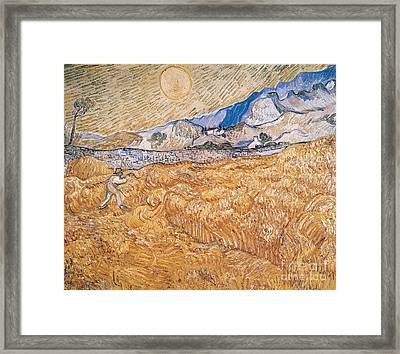The Harvester Framed Print by Vincent Van Gogh