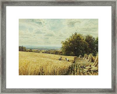 The Harvesters Framed Print by Edmund George Warren