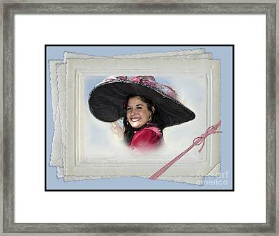 The Hat Framed Print by Betty LaRue