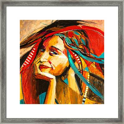 The Hat Framed Print by Jennifer Croom