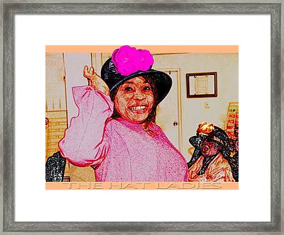 The Hat Ladies Framed Print