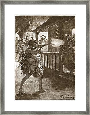 The Hauhaus Shot Or Bayoneted Them - Framed Print