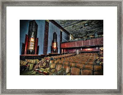 The Haunted Cole Theater Framed Print
