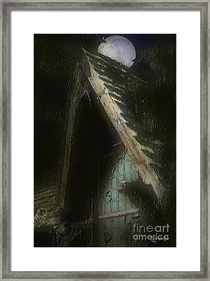 The Haunted Gable Framed Print by RC DeWinter