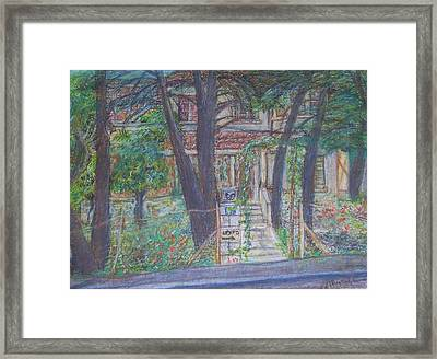 The Haunted House In Talpiot Jerusalem Framed Print by Esther Newman-Cohen