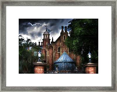 The Haunted Mansion Framed Print by Mark Andrew Thomas