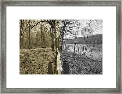 The Haunting Place Framed Print