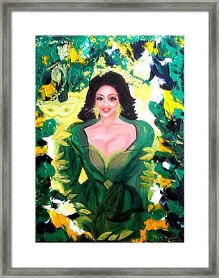 The Hawaiian Queen Framed Print by Carmen Doreal