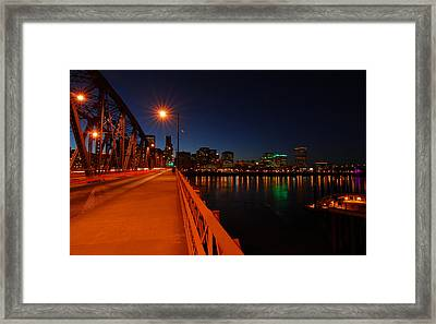 The Hawthorne Bridge  Framed Print by Jean-Jacques Thebault