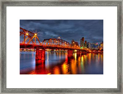 Framed Print featuring the photograph The Hawthorne Bridge - Pdx by Thom Zehrfeld