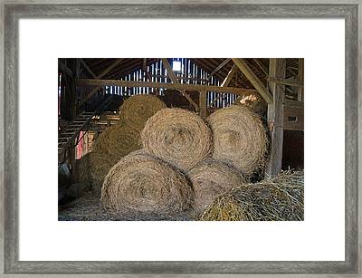 The Hay Barn Framed Print by Steph Maxson