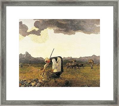 The Hay Harvest  Framed Print