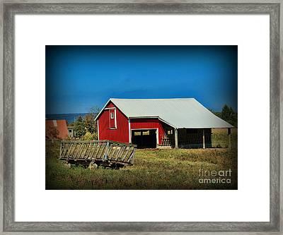 The Hay Wagon Framed Print