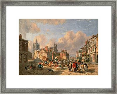 The Haymarket, Norwich Signed And Dated Framed Print by Litz Collection