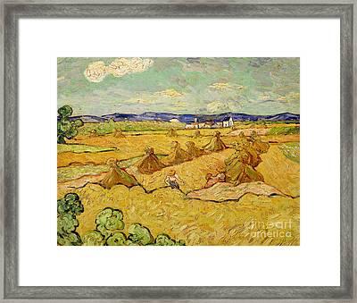 The Haystacks Framed Print