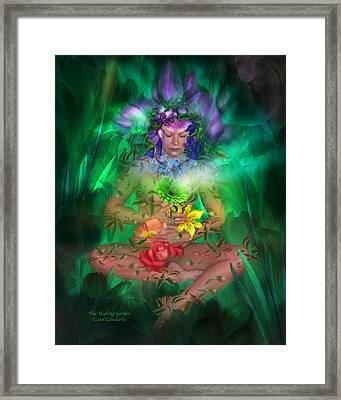 The Healing Garden Framed Print by Carol Cavalaris