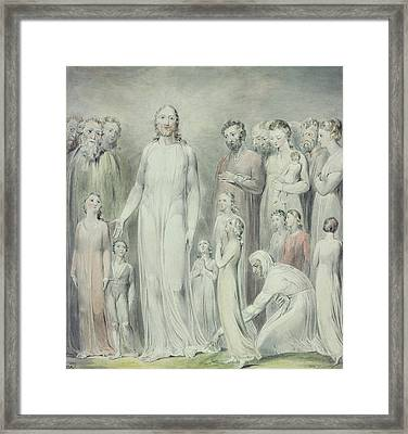 The Healing Of The Woman With An Issue Of Blood Framed Print by William Blake