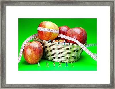 The Healthy Life II Little People On Food Framed Print