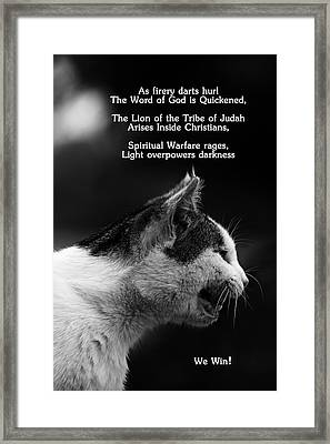 Framed Print featuring the photograph The Heart Of A Lion by Lorna Rogers Photography